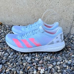 Adidas Adizero Boston running shoes sneakers light blue pink white Continental 8